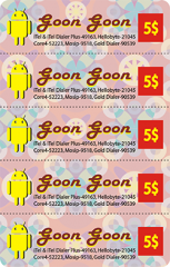5 in 1 Multi-Pin Goon Goon Scratch Card Printing